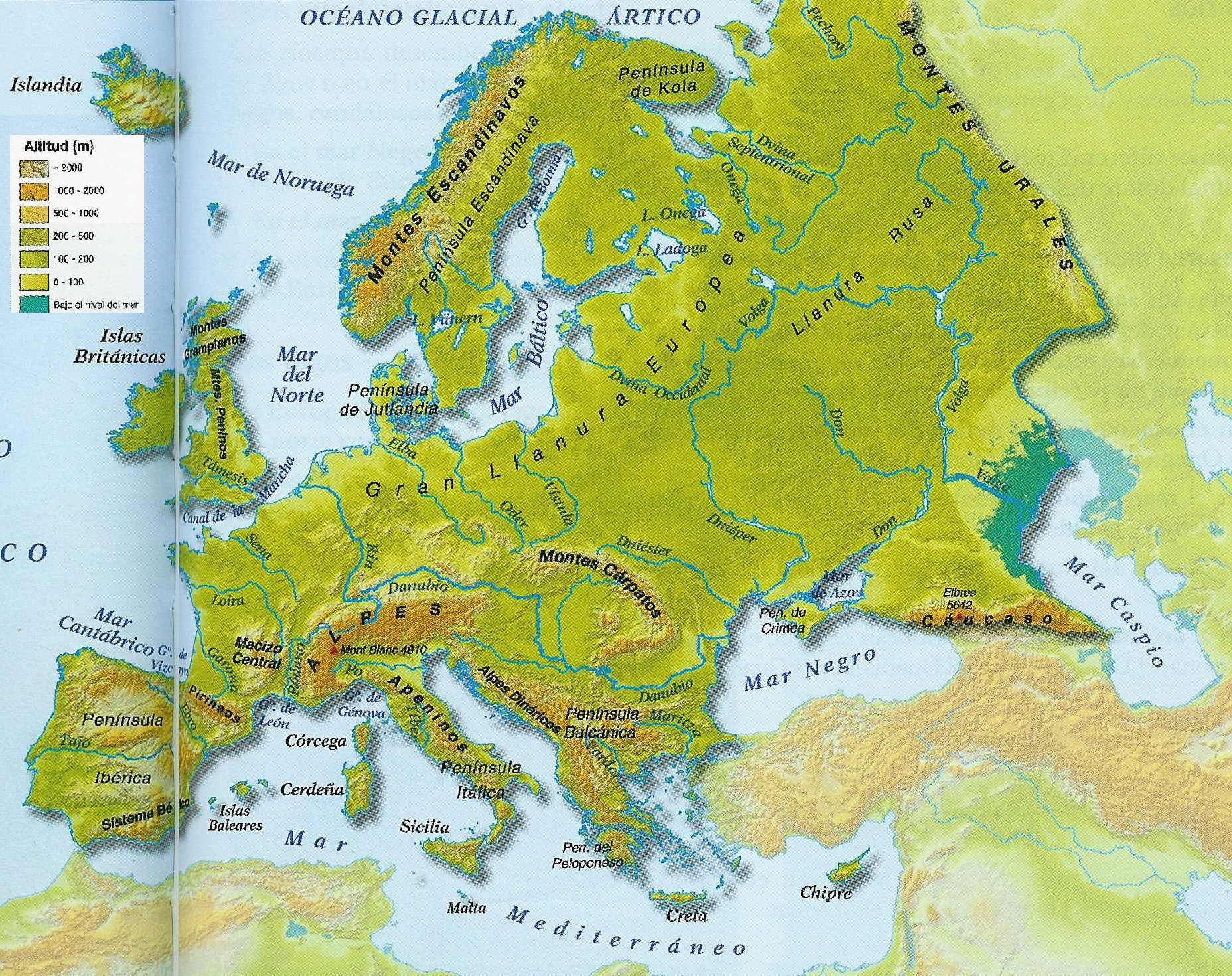 Mapa Mudo Fisico Europa Pdf.Conocimiento Del Medio