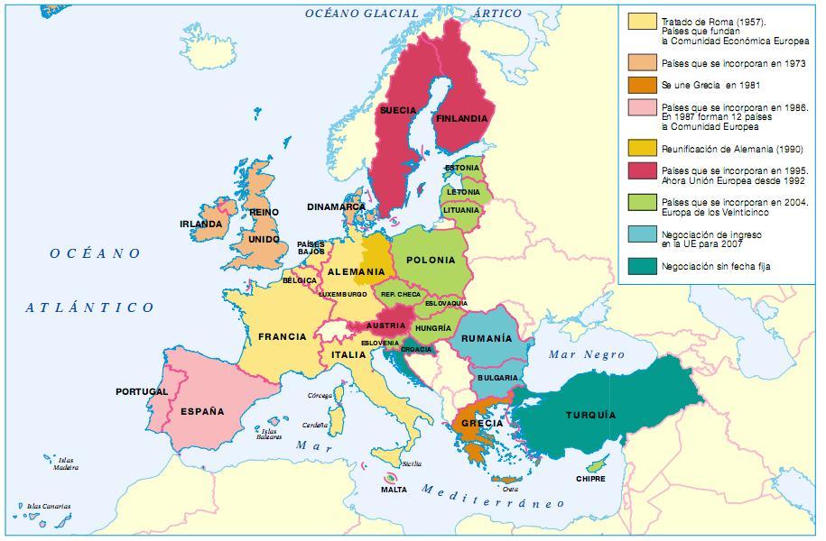 Mapa Politico Union Europea Mudo.Conocimiento Del Medio